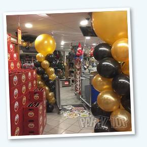 Ballonpilaar gold